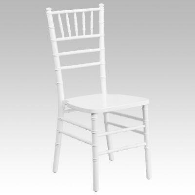 White Wood Chiavari Chair With Soft Seat Cushion - Stacking Wedding Chair