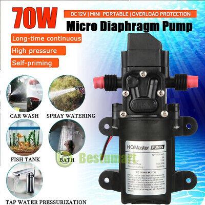 2020n 12v Water Pump Diaphragm Self Priming Rv Camper Marine Boat Shower 130psi