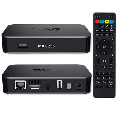 MAG 256 Genuine Infomir IPTV/OTT Set-Top Box, Uk convertor+ EU Power Pin