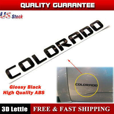 NEW CUSTOM GLOSS BLACK 03-18 CHEVROLET COLORADO DOOR & TAILGATE EMBLEMS