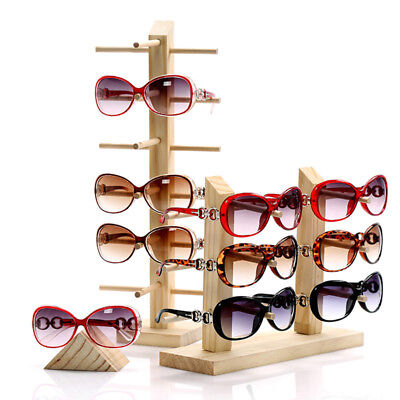 Mulit-size Wood Sunglass Display Show Case Rack Shelf Eye Glasses Show Stand