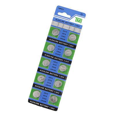 10PCS PILE AG13 LR44 L1154 1.55V Button Coin Cell Alkaline Batteries BOTTONE New