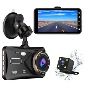 "Dash Cam 4"" IPS Touch Screen Dual Lens - Front and Back"