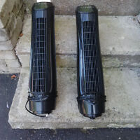 OSCILLATING TOWER FANS VERTICAL 2 UNITS BRAND NEW!! NO BASE!!!