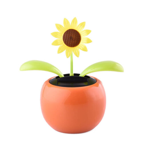 solar power flip flap flower for auto car home dancing flower toy gift