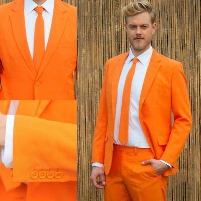2019 New Orange 2 Pieces Groom Tuxedo Best Men Formal Business Wedding Prom