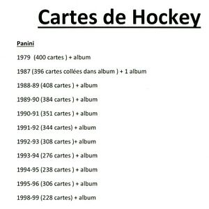cartes de hockey Panini