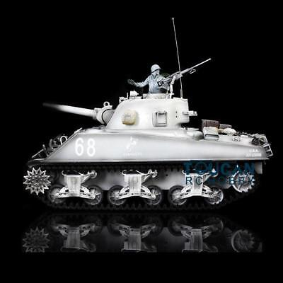 US Stock 1/16 Scale Snow HengLong USA M4A3 Sherman RC Tank 3898 360 Degrees