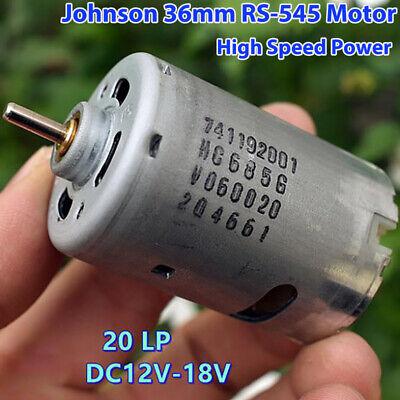 Johnson Rs-545 Dc 12v-18v 14.4v 19500rpm High Speed Power Electric Drill Motor