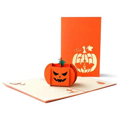 Halloween Pumpkin 3D Greeting Card Handmade Gift Card for Kids