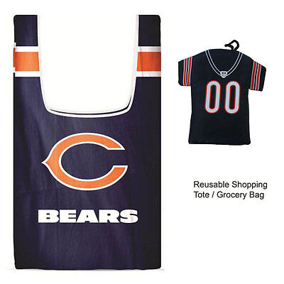 New Jersey Style Nfl Chicago Bears Reusable Shopping Tote Grocery Bag