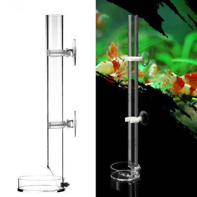 Aquarium Acrylic Shrimp  Feeder Tube Feeding Dish Plate Craw Fish Casting Tube