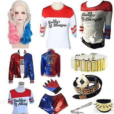 Harley Quinn Outfits (NEU Halloween Cosplay Suicide Squad Jacket Harley Quinn Outfit Suit Kostüm Joker)