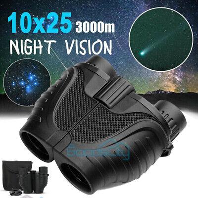 10X25 Binoculars Day Night Vision Auto Focus BAK4 High Power Waterproof+ Bag