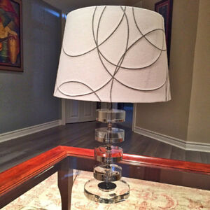 TWO BEAUTIFUL MODERN LAMPS WITH SHADES