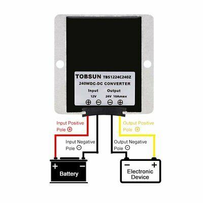 Waterproof Dc12v To Dc 24v 10a 240w Step Up Power Supply Converter Regulator New