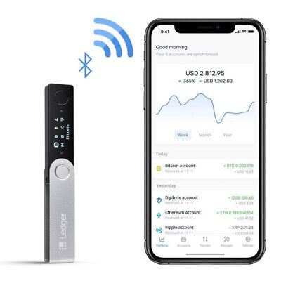 Ledger Nano X - Cryptocurrency Hardware Wallet for Bitcoin, Alt Coins and Tokens