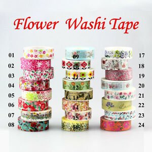 Cute-Floral-Blossom-Set-DIY-Decorative-Adhesive-Masking-Tape-Japanese-Washi-Tape