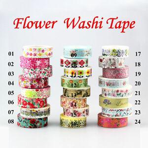 Cute-Floral-Blossom-Set-DIY-Decorative-Adhesive-Masking-Tape-Japanese-Washi-Tape