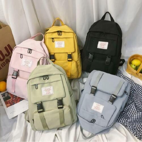 Women Canvas School Bag Girl Backpack Large Capacity Travel