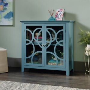 Sauder Furniture 420272 Display Cabinet Moody Blue Ebay