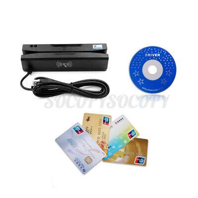 Zcs160 4 In 1 Magnetic Stripe Credit Card Emv Ic Chip Rfid Psam Reader  A L