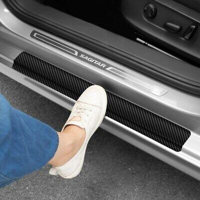 4X Accessories Car Stickers Carbon Fiber Door Sill Protector Scuff Plate Trim