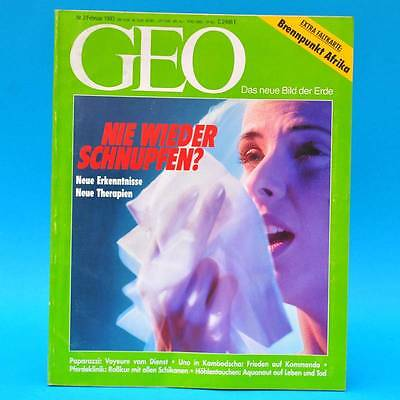 GEO Magazin 2/1993 Schnupfen Paparazzi Pilatus-Berg Afrika Moraig-Höhle UNO