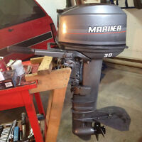 30hp Mariner(Yamaha) outboard complete(blown motor)