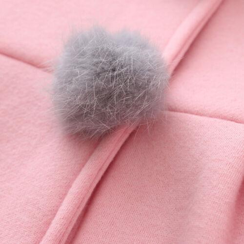 Toddler Baby Kids Bunny Ears Hooded Outwear Winter Jacket Tops
