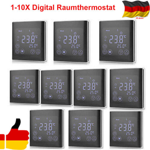 Digital LCD Thermostat Digitaler Raumthermostat Fußbodenheizung Touchscreen 16A