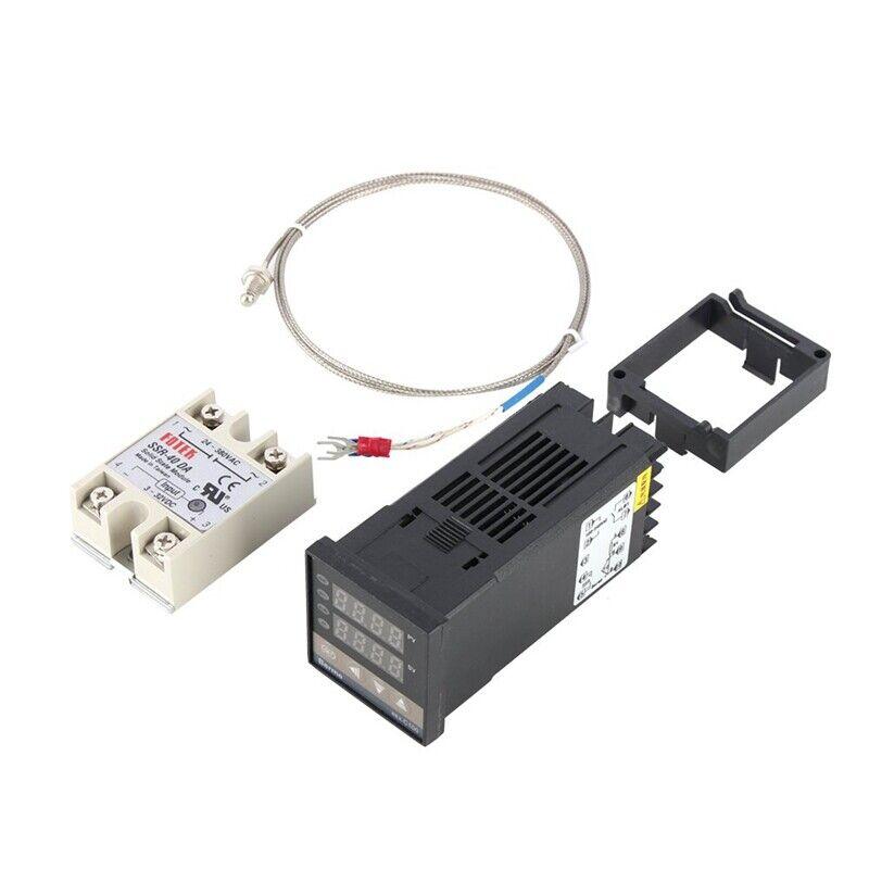 Digital PID Temperature Controller Kit Dual Digital Display REX C100 Thermostat