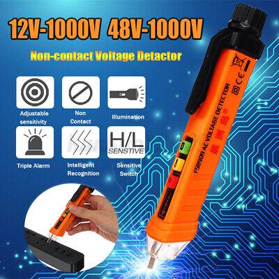 12-1000v Acdc Non-contact Lcd Electric Voltage Tester Pen Detector Tester Alarm