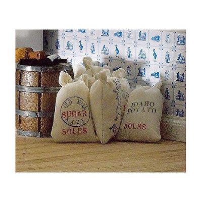 Dolls House 4463 Säcke mit Lebensmittel (6 Stück) 1:12 für Puppenhaus NEU! #