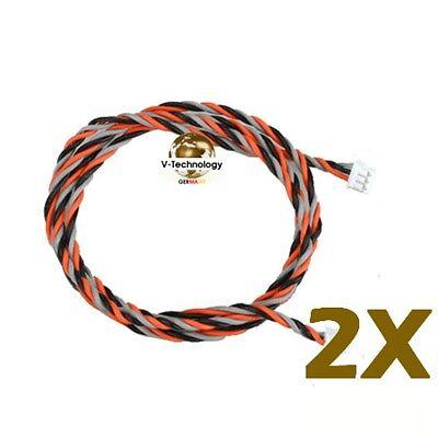 2x Empfänger Spektrum Satellit Kabel 300mm 30cm OrangeRx JR Propo K-135 m2