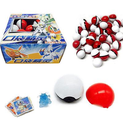 Cute 36pcs Red Pokemon Go Pokeball Pop-up Ball &Mini Monsters Figures Kids Toy
