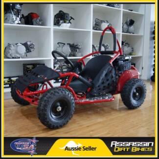 NEW Assassin USA 80cc OHV 4 Stroke KIDS Buggie Go Kart Bike ATV D