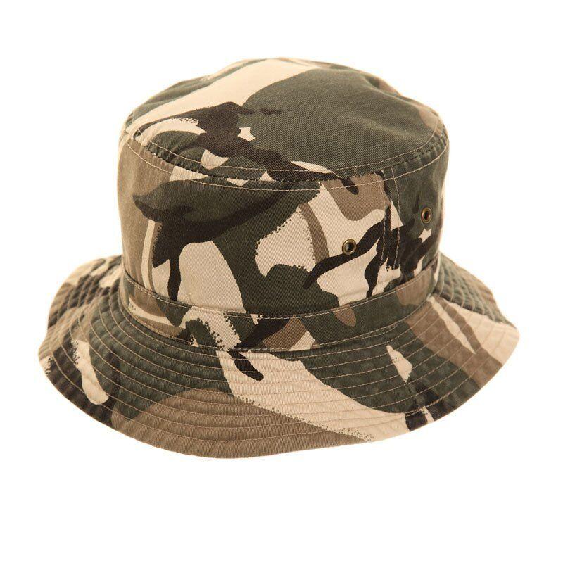 NUOVO BAMBINO Cappello da Pescatore Sole Camouflage CHINO BEIGE MILITARE