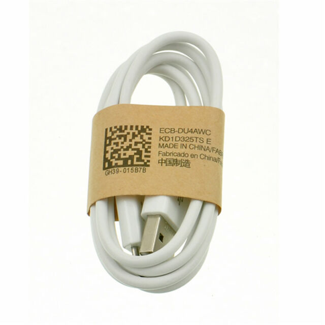 White Micro USB Data Cable Cord Sync Charger For Samsung Galaxy S2 S3 S4 New