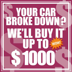 WE BUY CARS IN ANY CONDITION! CASH!