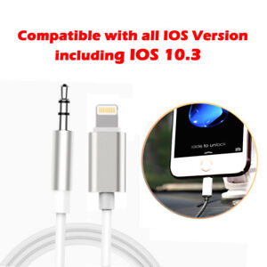 3.5mm AUX CABLE LEAD CAR Stereo TRANSFER MUSIC Audio Music for iPhone 8/8 Plus