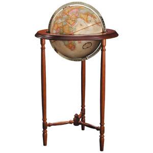 Globe in Real Cherry Wood Stand