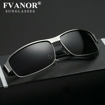 Mens Aluminum HD Polarized Sunglasses Driving Pilot Glasses UV400 Sports (Aluminum Eyewear)