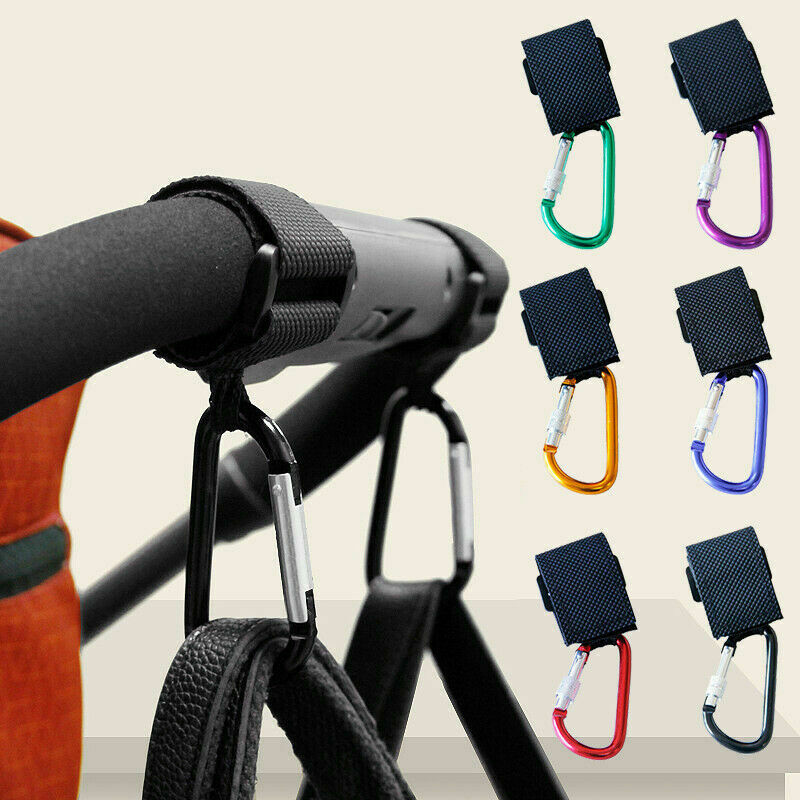 Baby Pushchair Stroller Clip Hook Buggy Pram Kids Diaper Bag Hanger Safe Carrier
