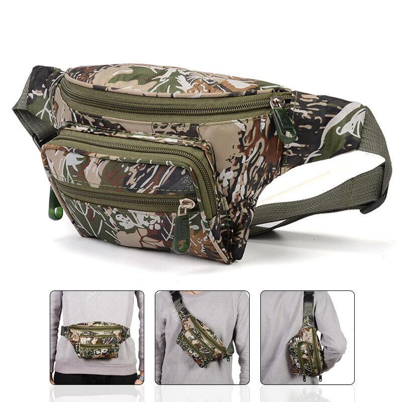 Metal Detector Finds Pouch Camo Zipper Pockets Waist Bag Outdoor Detecting US