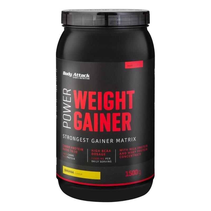 Body Attack Power Weight Gainer - 1,5kg Masseaufbau Protein Kohlenhydrate Masse