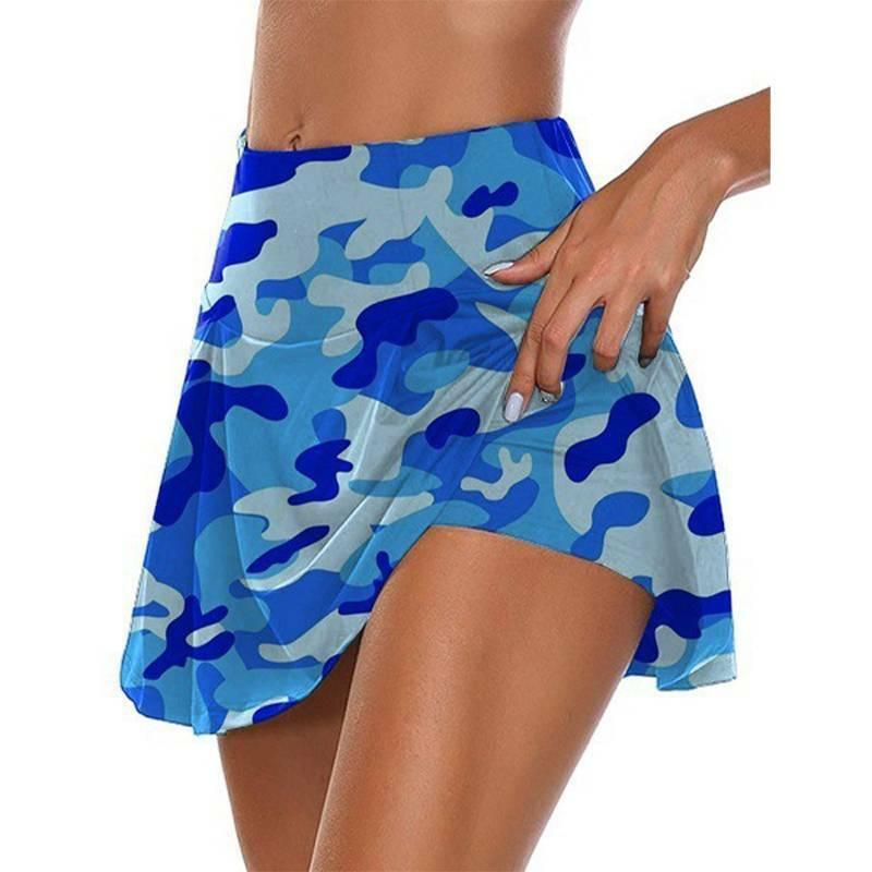 Women Camo High Waist Tennis Skirt Shorts Ladies Sports Jogging Active Skirts Activewear