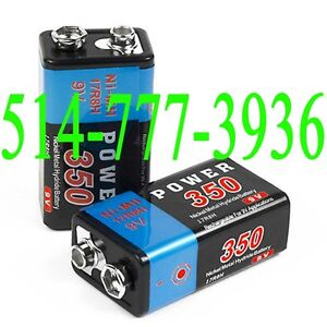 9V Rechargeable Battery 350mAh Ni-MH Batteries Rechargables