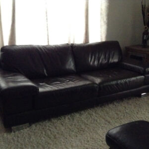 100% leather couch