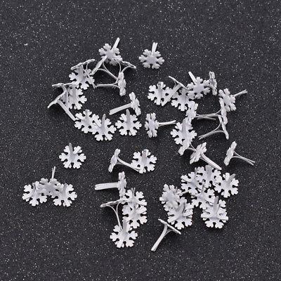 50pcs Scrapbooking Brads Flower Sonwflake Embellishment Fastener Metal Crafts - Decorative Brads